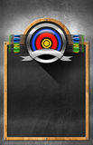 Blackboard for Archery Royalty Free Stock Photos