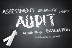 Blackboard Audit. Blackboard Illustration with Audit wording Stock Photo