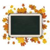 Blackboard Autumn Foliage Royalty Free Stock Photography