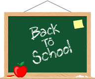 Blackboard back to schoo Royalty Free Stock Images