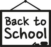 Blackboard Back to school. Vector Royalty Free Stock Photos