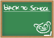 Blackboard with Back to School Sign Royalty Free Stock Image