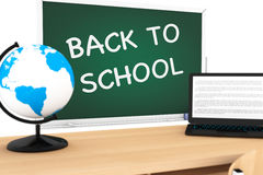 Blackboard with Back to School Sign. On a white background Royalty Free Stock Photography