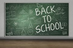 Blackboard with Back to School text Stock Photo