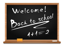 Blackboard. Back to school. Vector illustration. Blackboard. Chalk on a blackboard. Back to school. Welcome. Vector illustration Royalty Free Stock Photos