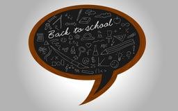 Blackboard. Back to school - blackboard on a wall Stock Photography