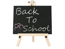 Blackboard with back to school word Stock Photos