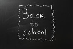 Blackboard with Back to School Writing stock photography