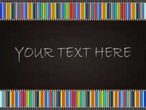 Blackboard background with colored pencil rectangular frame Stock Photography