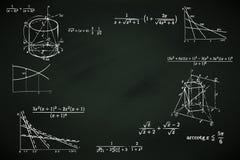 Blackboard background with mathematic writings  illustration. Blackboard background with mathematic writings Royalty Free Stock Image