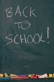 Blackboard background with text Royalty Free Stock Image