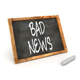 Blackboard Bad News Stock Photos