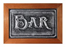 Blackboard Bar sign Stock Photo