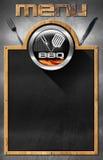 Blackboard for Barbecue Menu Royalty Free Stock Image