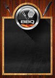 Blackboard for Barbecue Menu Royalty Free Stock Photo