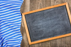 Blackboard with a bavarian diamond pattern Stock Photography