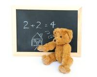 Blackboard and bear stock photos