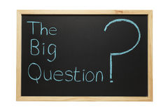 Blackboard The Big Question Stock Image