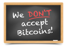 Blackboard Bitcoin Royalty Free Stock Images