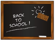 Blackboard black - back to school Royalty Free Stock Photography