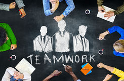 Blackboard Brainstorming Cooperation Planning Meeting Concept Royalty Free Stock Images