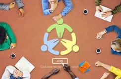Blackboard Brainstorming Cooperation Planning Meeting Concept Stock Photo