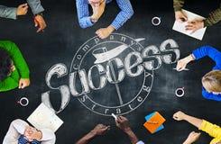 Blackboard Brainstorming współpracy Planistycznego spotkania pojęcie Fotografia Royalty Free