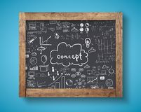 Blackboard with business concept Royalty Free Stock Images