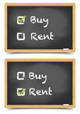 Blackboard Buy Rent Stock Image