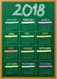 Blackboard calendar for 2018 year Royalty Free Stock Photography