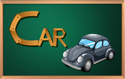 A blackboard with a car Royalty Free Stock Photography