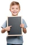 blackboard chłopiec fotografia stock
