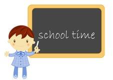 blackboard chłopiec szkoła Fotografia Royalty Free