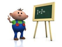 blackboard chłopiec Obrazy Stock