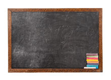 Blackboard and chalk Royalty Free Stock Images