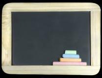 Blackboard with chalk Stock Image