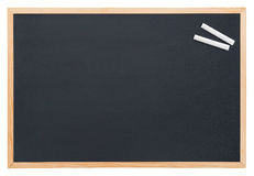 Blackboard with chalk. Blank blackboard with chalk isolated on white Stock Photo