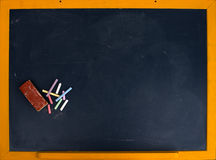 Blackboard with chalk Royalty Free Stock Photos