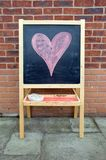 Blackboard, with chalk heart Stock Image
