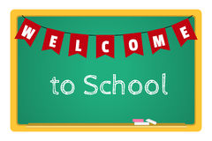 Blackboard with chalk and an inscription Welcome to School Royalty Free Stock Photos