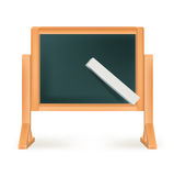 Blackboard with chalk isolated 库存照片