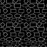 Blackboard chalk mind map seamless pattern Royalty Free Stock Photos