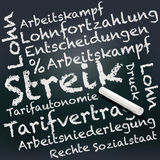 Blackboard and chalk with strike Royalty Free Stock Images