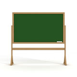 Blackboard with a chalk on a white background. royalty free stock photos