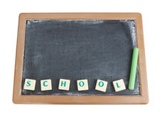 Blackboard and chalk for the written. Stock Images