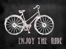 Blackboard or Chalkboard bicycle sign Stock Images