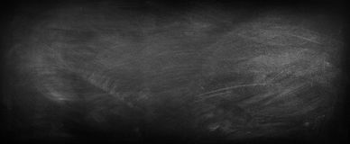 Blackboard or chalkboard. Chalk rubbed out on blackboard Stock Image