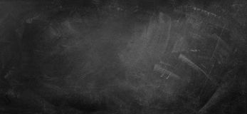 Blackboard or chalkboard. Chalk rubbed out on blackboard background Stock Images