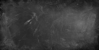 Blackboard or chalkboard. Chalk rubbed out on blackboard background Stock Photo