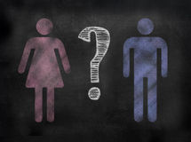 Blackboard or Chalkboard Gender image Royalty Free Stock Photography